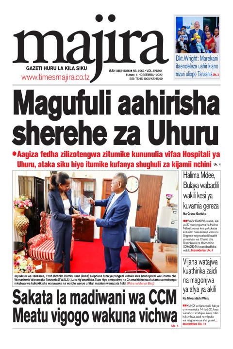 Magufuli aahirisha sherehe za Uhuru | MAJIRA