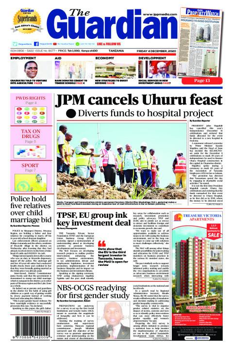 JPM cancels Uhuru feast   The Guardian