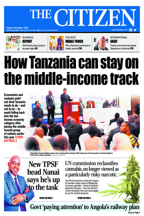HOW TANZANIAN CAN STAY ON THE MIDDLE-INCOME TRACK