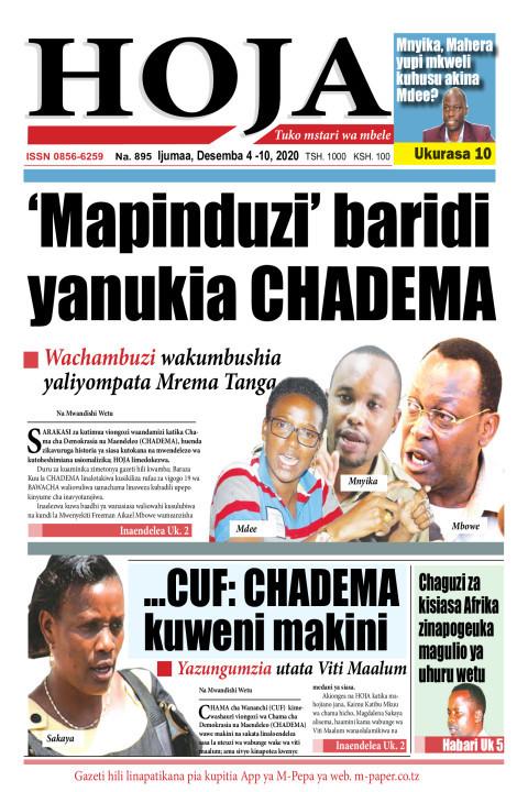 'Mapinduzi' baridi yanukia CHADEMA | HOJA