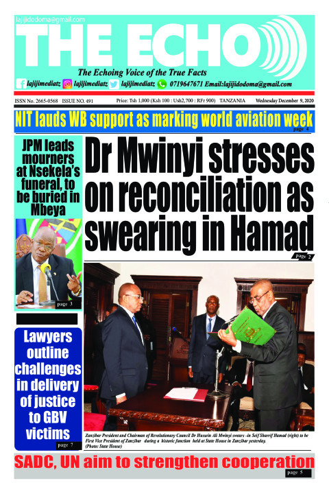 Dr Mwinyi stresses on reconciliation as swearing in Hamad   | The ECHO