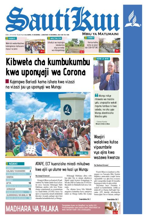 Kibweta cha kumbukumbu kwa uponyaji wa Corona kujengwa Baria | Sauti Kuu Newspaper