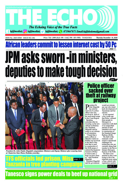 JPM asks sworn -in ministers, deputies to make tough decisio | The ECHO