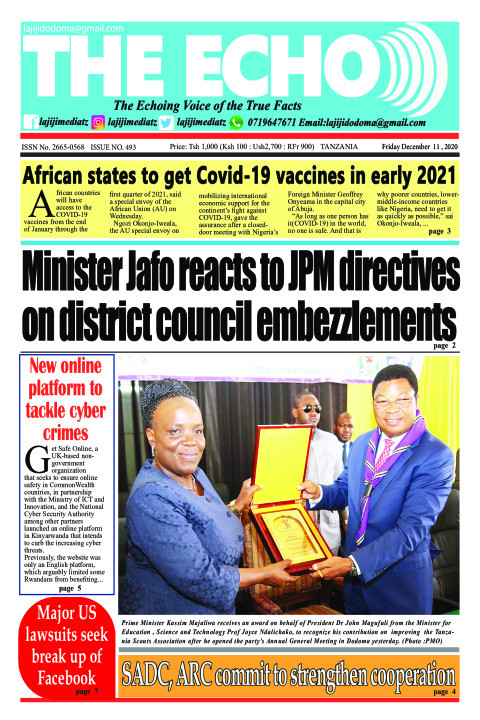 Minister Jafo reacts to JPM directives on district council e | The ECHO