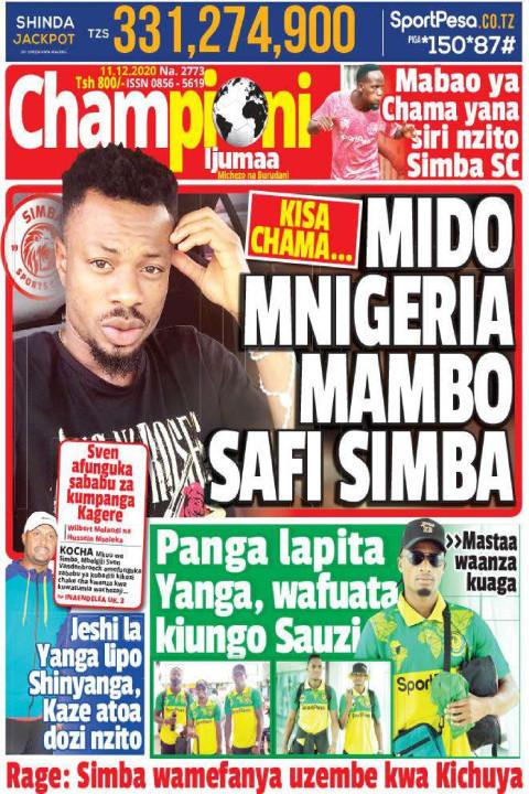 MIDO MNIGERIA MAMBO SAFI SIMBA | Championi Ijumaa