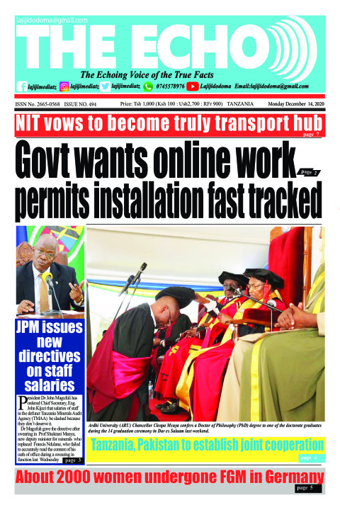Govt wants online work permits installation fast tracked | The ECHO