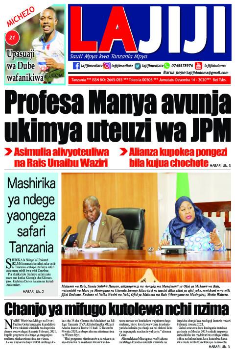 Profesa Manya avunja ukimya uteuzi wa JPM  | LaJiji