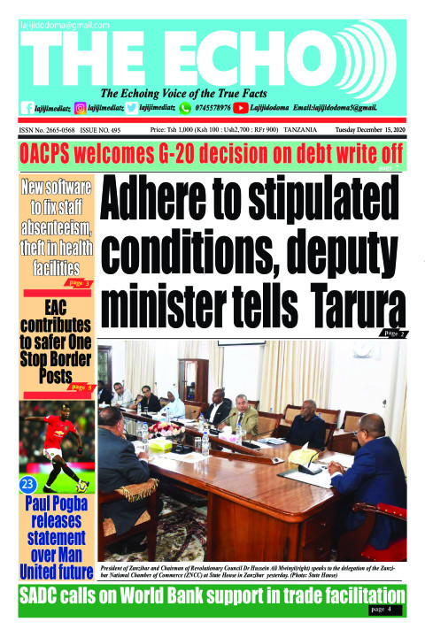 Adhere to stipulated conditions, deputy minister tells  Taru | The ECHO