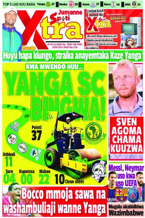 YANGA SC BINGWA | SpotiXtra Jumanne