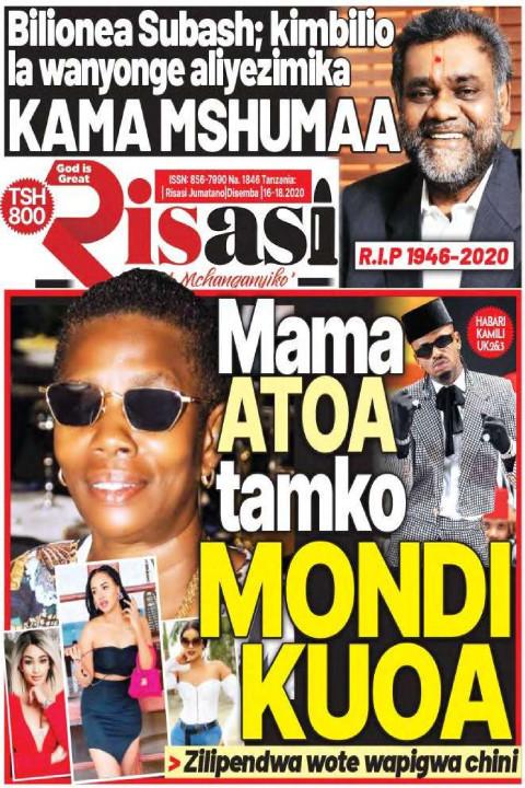 Mama ATOA tamko MONDI KUOA | Risasi Mchanganyiko