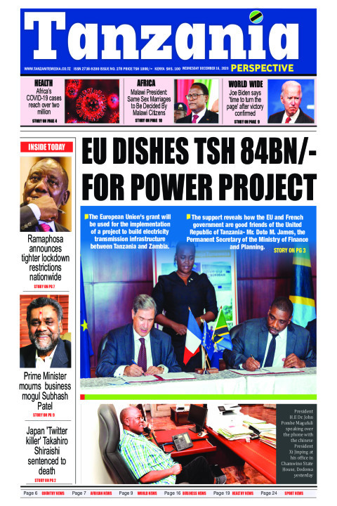EU dishes Tsh 84bn/- for power project | Tanzania Perspective
