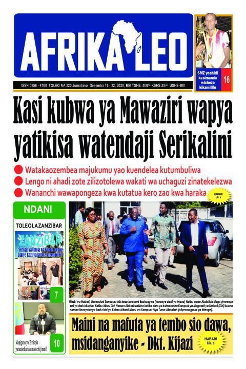 Kasi ya Mawaziri wapya yatikisa watendaji | AFRIKA LEO