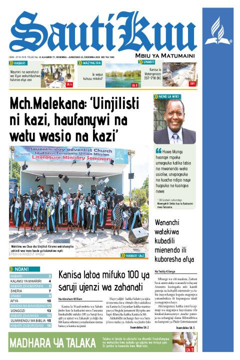 Mch.Malekana: 'Uinjilisti ni kazi haufanywi na watu wasio na | Sauti Kuu Newspaper