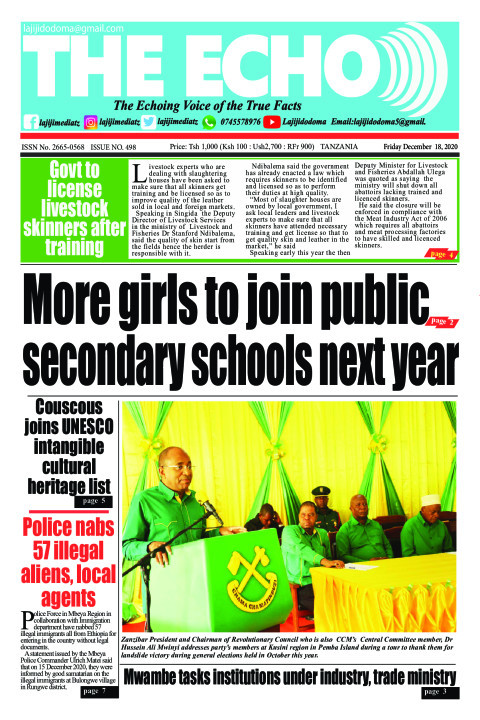 More girls to join public secondary schools next year | The ECHO