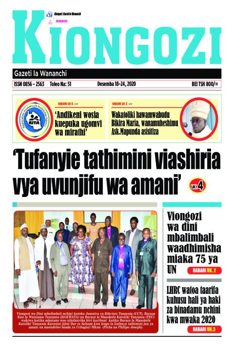 Tufanyie tathimini viashiria vya uvunjifu wa amani | Kiongozi
