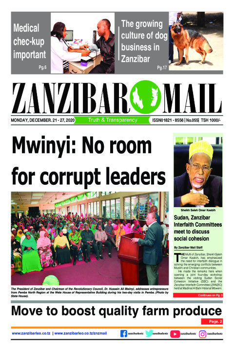 Mwinyi: No room for corrupt leaders | ZANZIBAR MAIL