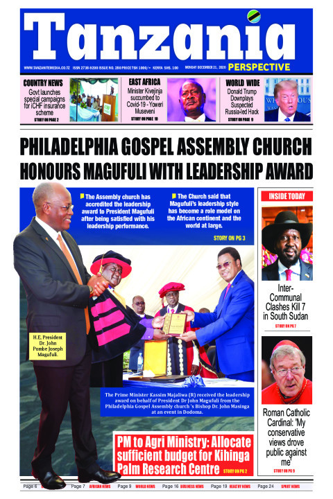 PHILADELPHIA GOSPEL ASSEMBLY CHURCH HONOURS MAGUFULI WITH LE | Tanzania Perspective