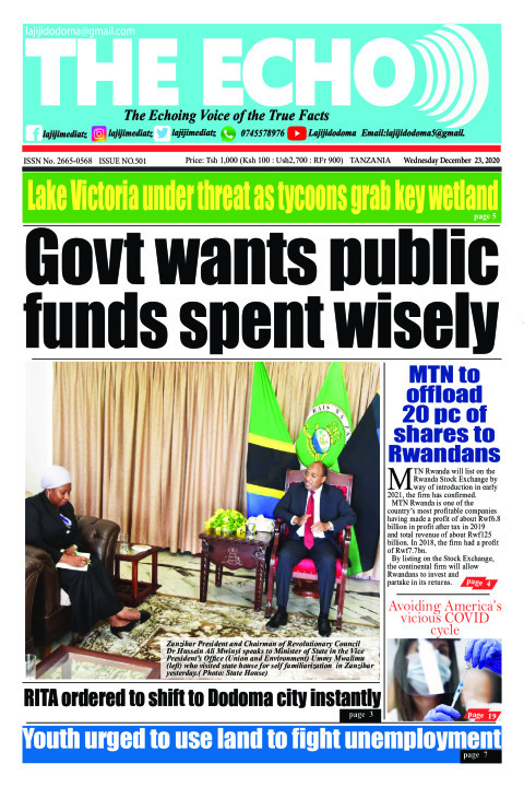 Govt wants public funds spent wisely | The ECHO