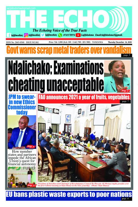Ndalichako: Examinations cheating unacceptable | The ECHO
