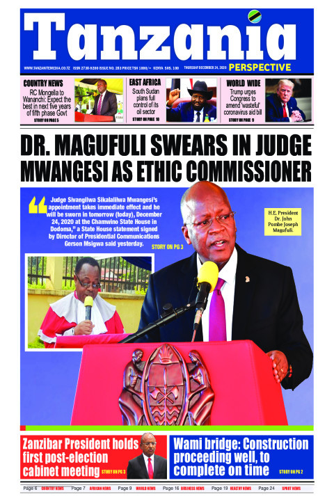 Magufuli swears in Judge Mwangesi as Ethic Commissioner | Tanzania Perspective