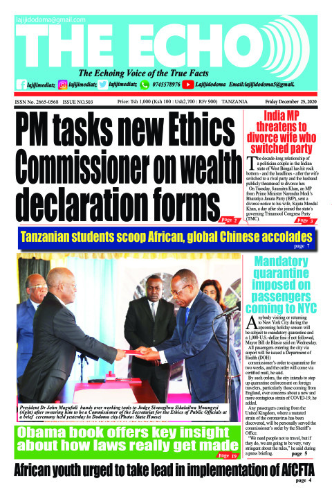 PM tasks new Ethics Commissioner on wealth declaration forms | The ECHO