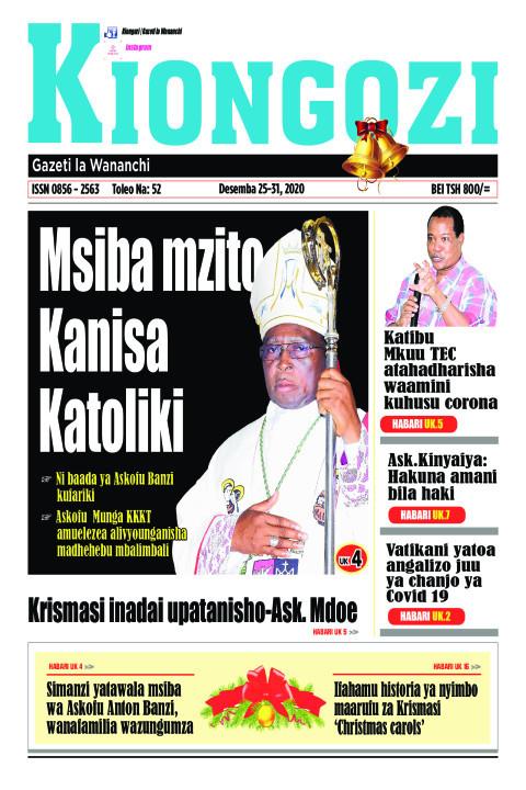 Msiba mzito Kanisa Katoliki | Kiongozi