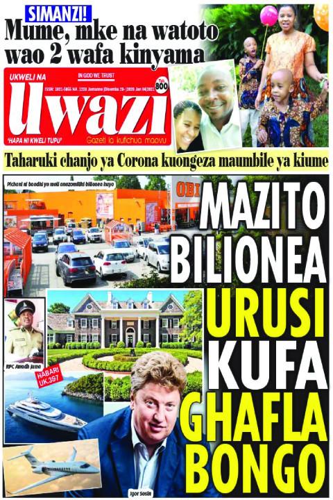 MAZITO BILIONEA URUSI KUFA GHAFLA BONGO  | Uwazi
