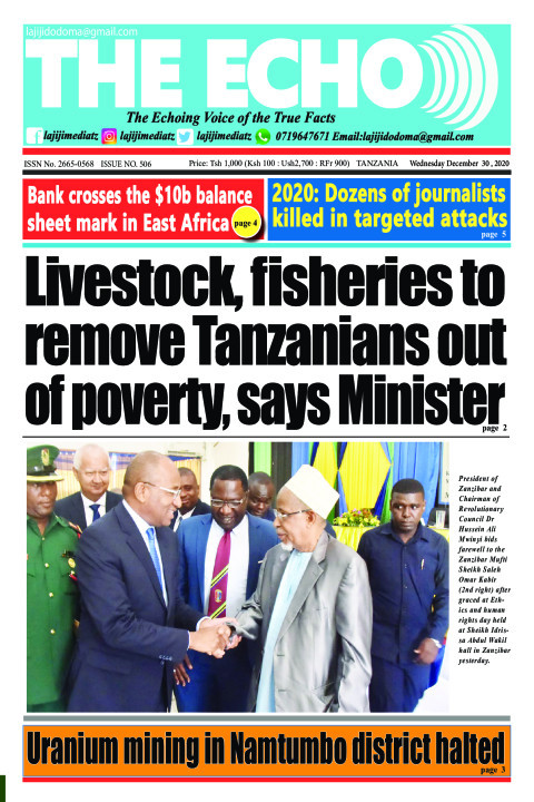 Livestock, fisheries to remove Tanzanians out of poverty, sa | The ECHO