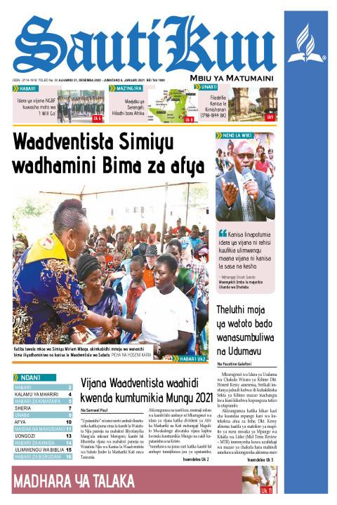 Waadventista Simiyu wadhamini Bima za afya kwa wazee | Sauti Kuu Newspaper