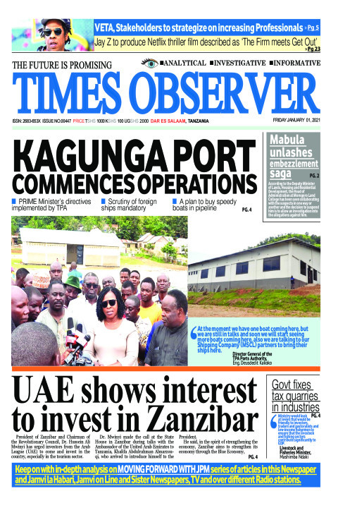 KAGUNGA PORT COMMENCES OPERATIONS | Times Observer