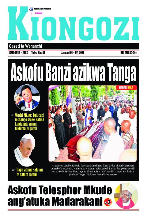 Askofu Banzi azikwa Tanga | Kiongozi