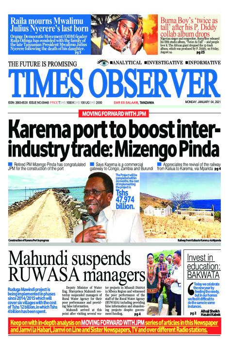 Karema port to boost interindustry trade: Mizengo Pinda | Times Observer