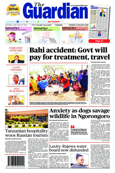 Bahi accident: Govt will pay for treatment, travel | The Guardian