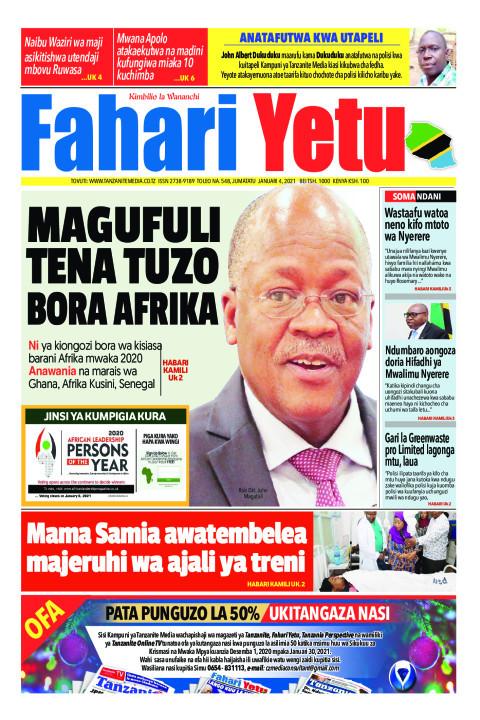 MAGUFULI TENA TUZO BORA AFRIKA | Fahari Yetu