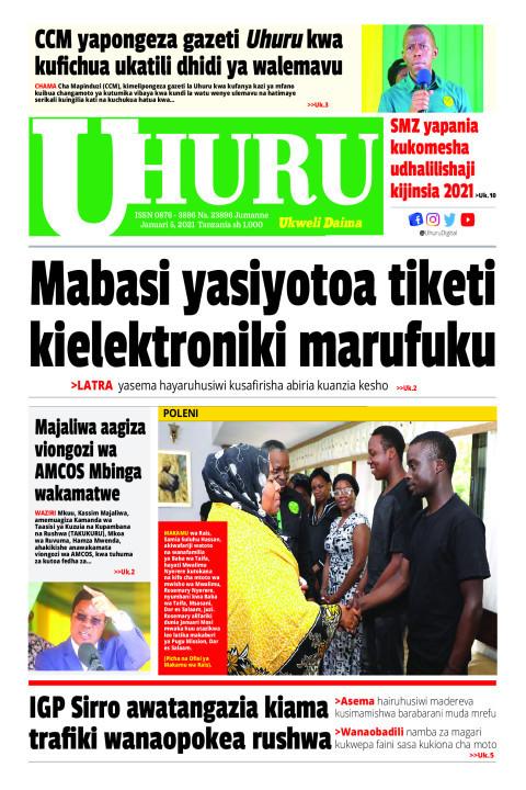 Mabasi yasiyotoa tiketi kielektroniki marufuku   Uhuru
