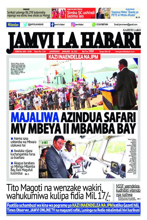 MAJALIWA AZINDUA SAFARI MV MBEYA II MBAMBA BAY  | Jamvi La Habari