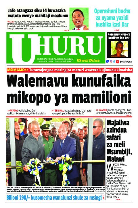 Walemavu.kunufaika mikopo ya mamilioni   Uhuru