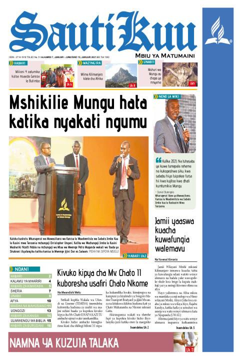 Mshikilie Mungu hata katika nyakati ngumu | Sauti Kuu Newspaper