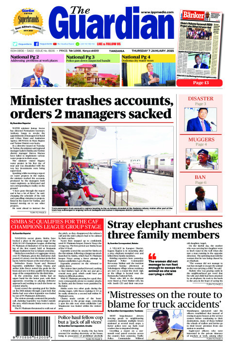 Minister trashes accounts, orders 2 managers sacked | The Guardian