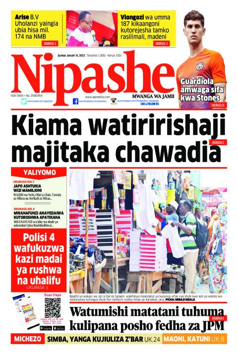 KIAMA WATIRIRISHAJI MAJI TAKA CHAWADIA | Nipashe