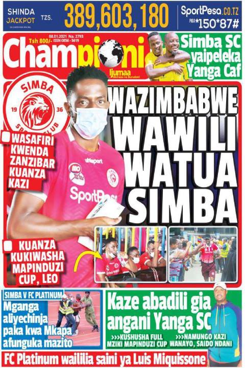 WAZIMBABWE WAWILI WATUA SIMBA | Championi Ijumaa