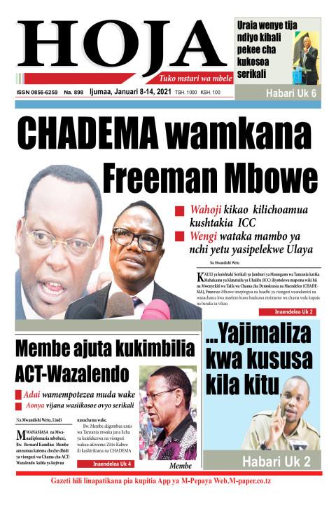 CHADEMA wamkana  Freeman Mbowe | HOJA