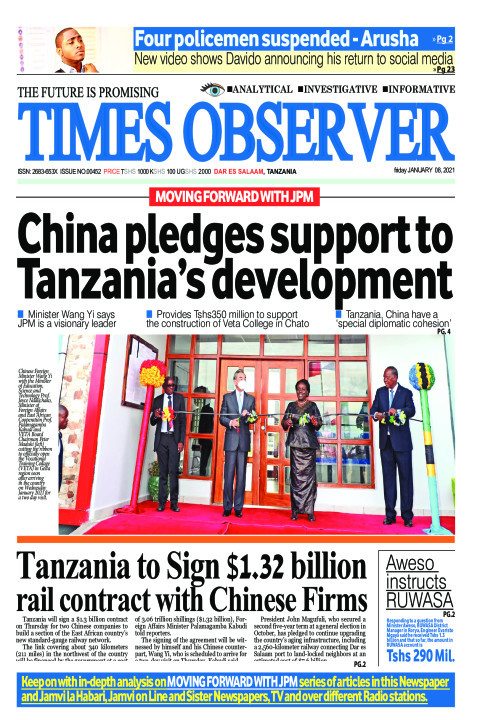 China pledges support to Tanzania's development | Times Observer