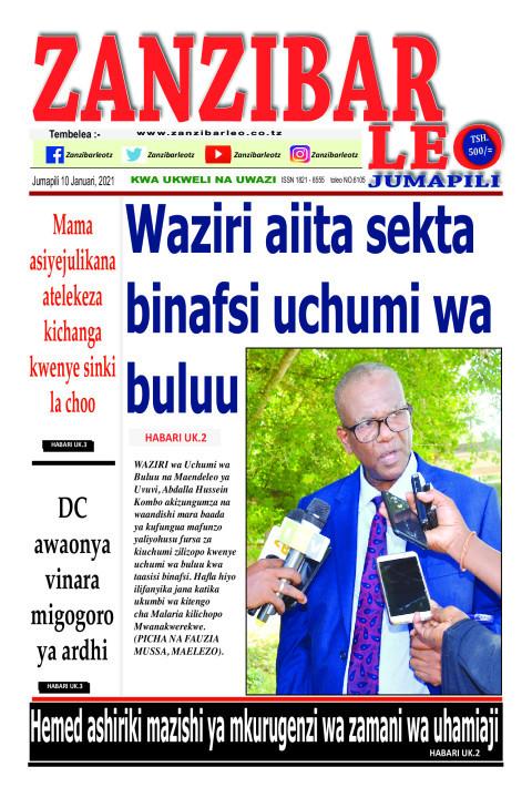 Waziri aiita sekta binafsi uchumi wa buluu | ZANZIBAR LEO