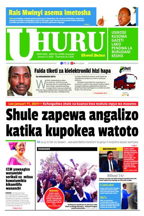 Shule zapewa angalizo katika kupokea watoto   Uhuru