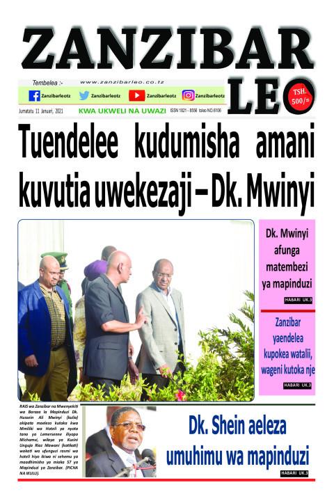 Tuendelee kudumisha amani kuvutia uwekezaji – Dk. Mwinyi | ZANZIBAR LEO