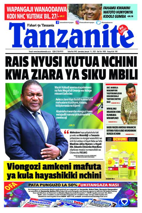 RAIS NYUSI KUTUA NCHINI KWA ZIARA YA SIKU MBILI | Tanzanite