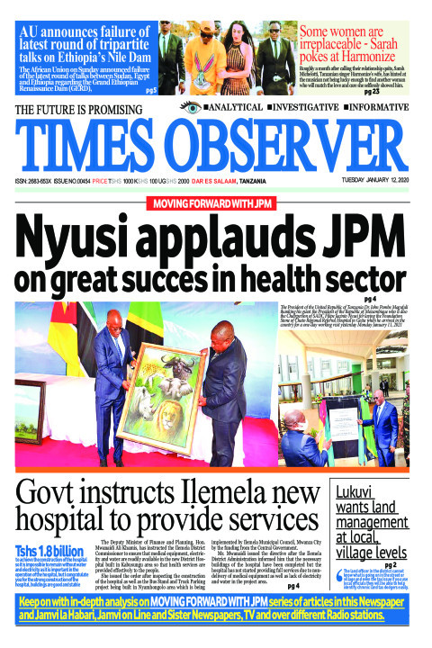 Nyusi applauds JPM on great succes in health sector | Times Observer