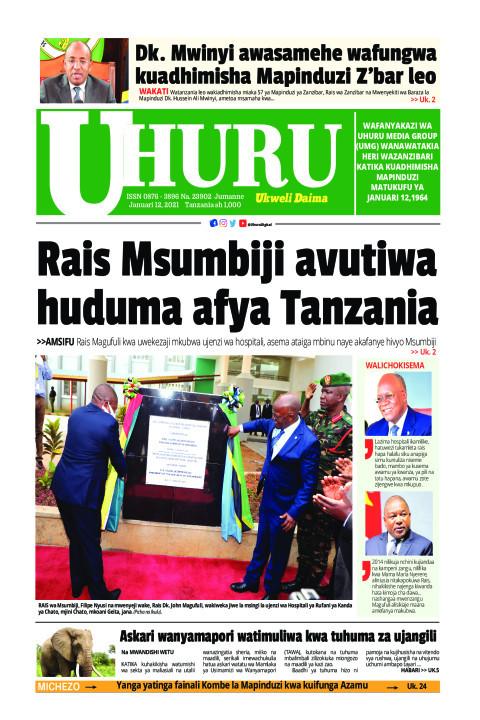 Rais Msumbiji avutiwa huduma afya Tanzania   Uhuru