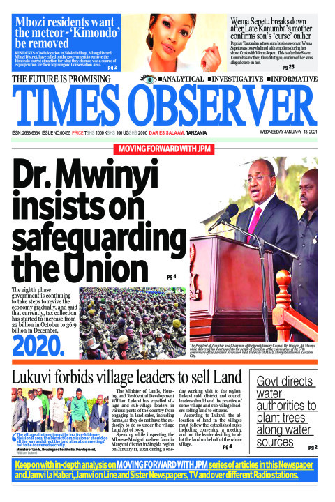 Dr. Mwinyi insists on safeguarding the Union | Times Observer